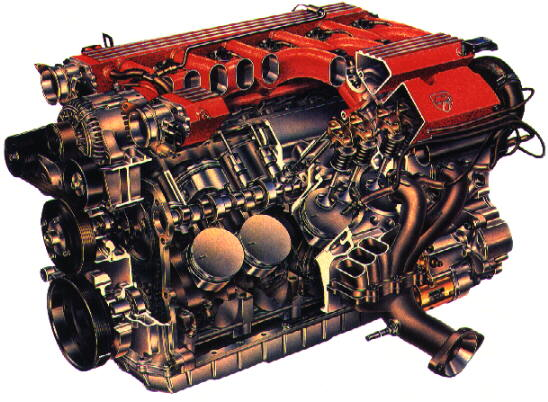 Drawing of the powerful 8.0L V-10